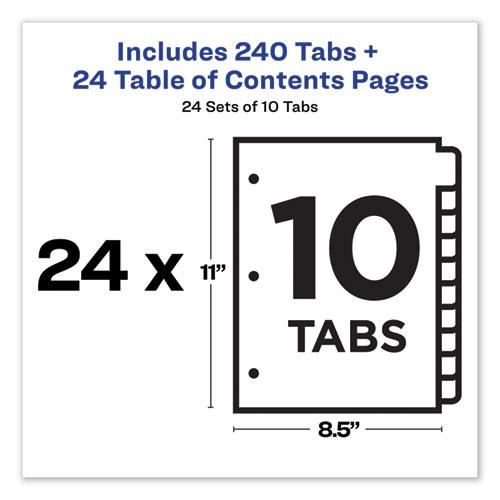 Customizable TOC Ready Index Multicolor Dividers, 10-Tab, Letter, 24 Sets. Picture 6