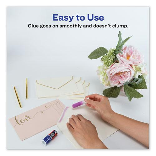 Permanent Glue Stic for Envelopes, 0.26 oz, Applies Purple, Dries Clear, 3/Pack. Picture 6