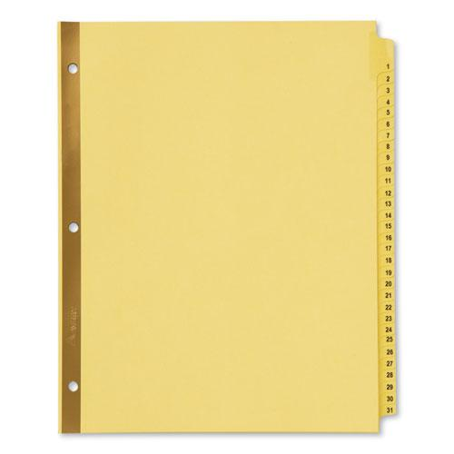 Preprinted Laminated Tab Dividers w/Gold Reinforced Binding Edge, 31-Tab, Letter. Picture 1