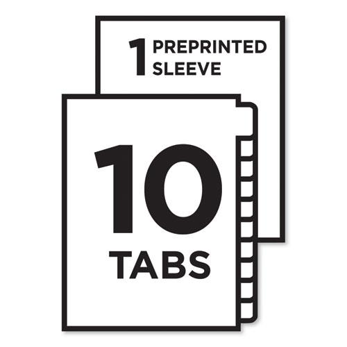 Ready Index Customizable Table of Contents, Asst Dividers, 10-Tab, Ltr, 6 Sets. Picture 5