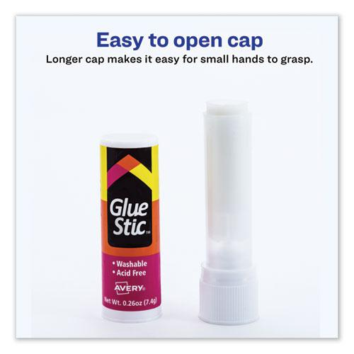 Permanent Glue Stic Value Pack, 0.26 oz, Applies White, Dries Clear, 18/Pack. Picture 8