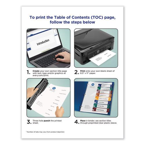 Ready Index Customizable Table of Contents, Asst Dividers, 8-Tab, Ltr, 6 Sets. Picture 2