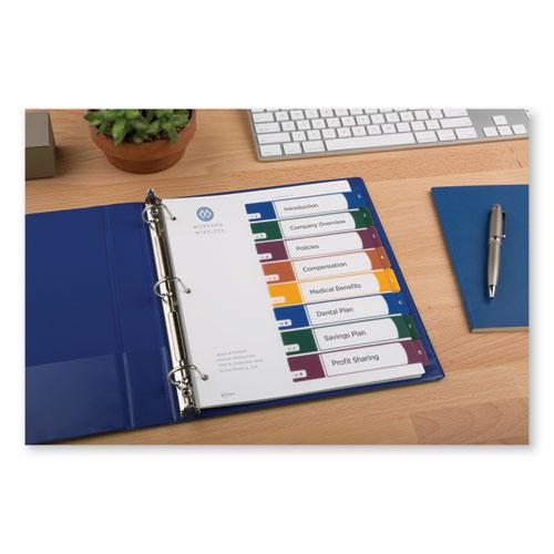 Customizable Table of Contents Ready Index Dividers with Multicolor Tabs, 8-Tab, 1 to 8, 11 x 8.5, Translucent, 1 Set. Picture 4