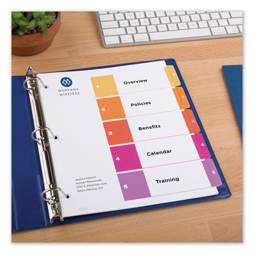 Customizable TOC Ready Index Multicolor Dividers, 5-Tab, Letter. Picture 6
