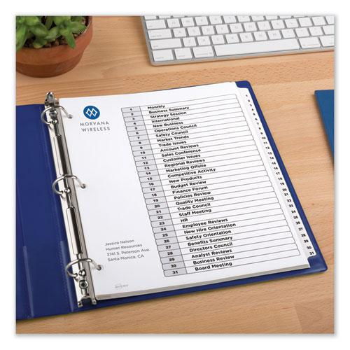 Customizable TOC Ready Index Black and White Dividers, 31-Tab, Letter. Picture 5