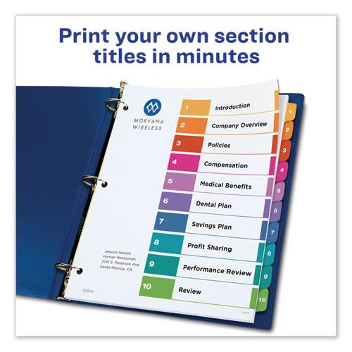 Customizable TOC Ready Index Multicolor Dividers, 10-Tab, Letter. Picture 6