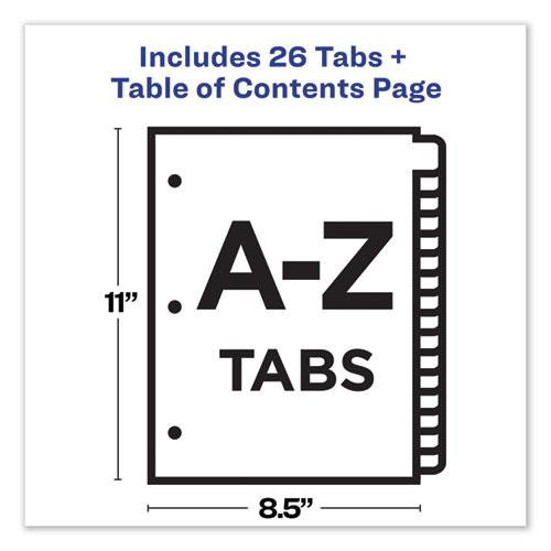 Customizable Table of Contents Ready Index Dividers with Multicolor Tabs, 26-Tab, A to Z, 11 x 8.5, White, 1 Set. Picture 5
