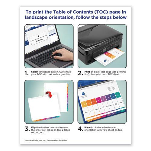 Customizable TOC Ready Index Multicolor Dividers, 10-Tab, Letter, 24 Sets. Picture 3