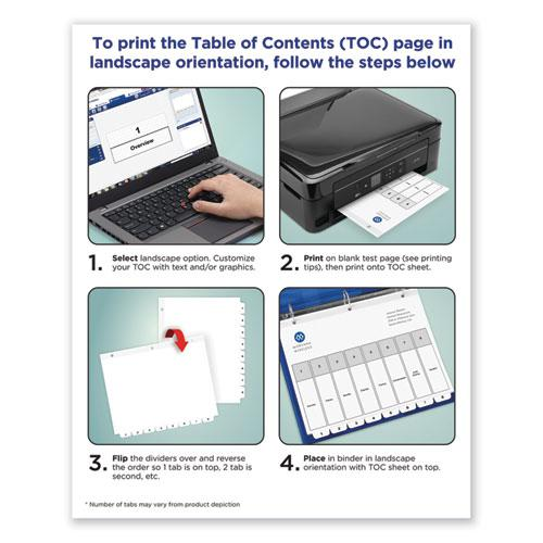Customizable TOC Ready Index Black and White Dividers, 12-Tab, Letter. Picture 2