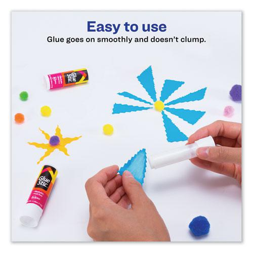 Permanent Glue Stic Value Pack, 0.26 oz, Applies White, Dries Clear, 18/Pack. Picture 5