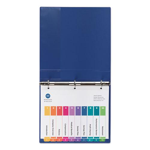 Customizable Table of Contents Ready Index Dividers with Multicolor Tabs, 10-Tab, 1 to 10, 11 x 8.5, White, 3 Sets. Picture 6