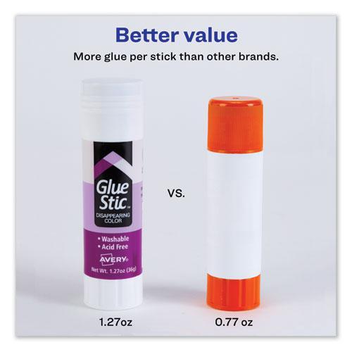 Permanent Glue Stic, 1.27 oz, Applies Purple, Dries Clear. Picture 2