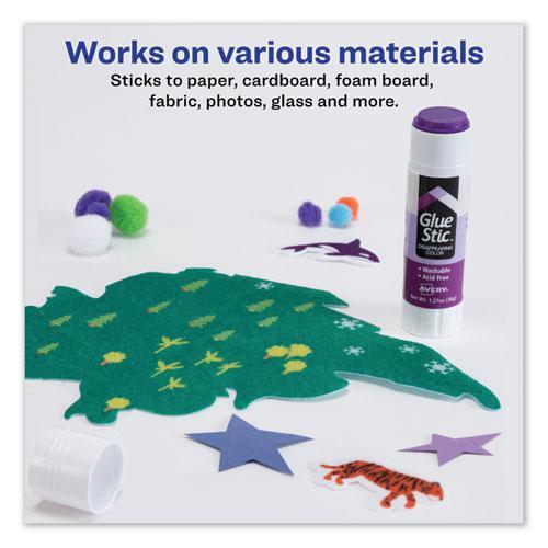 Permanent Glue Stic Value Pack, 1.27 oz, Applies Purple, Dries Clear, 6/Pack. Picture 6