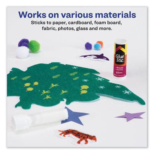 Permanent Glue Stic Value Pack, 0.26 oz, Applies White, Dries Clear, 18/Pack. Picture 3