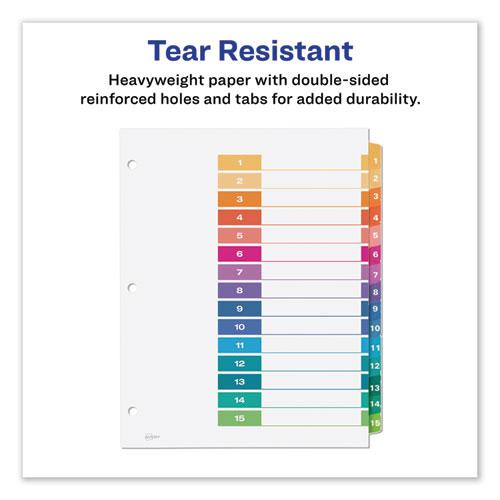 Customizable TOC Ready Index Multicolor Dividers, 15-Tab, Letter, 6 Sets. Picture 3