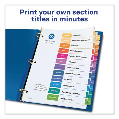 Customizable TOC Ready Index Multicolor Dividers, 12-Tab, Letter. Picture 5