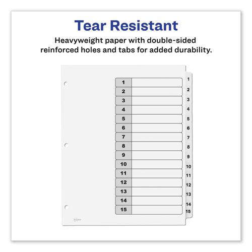 Customizable TOC Ready Index Black and White Dividers, 15-Tab, Letter. Picture 6