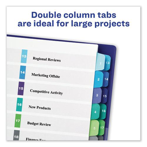 Customizable TOC Ready Index Double Column Multicolor Dividers, 24-Tab, Letter. Picture 4