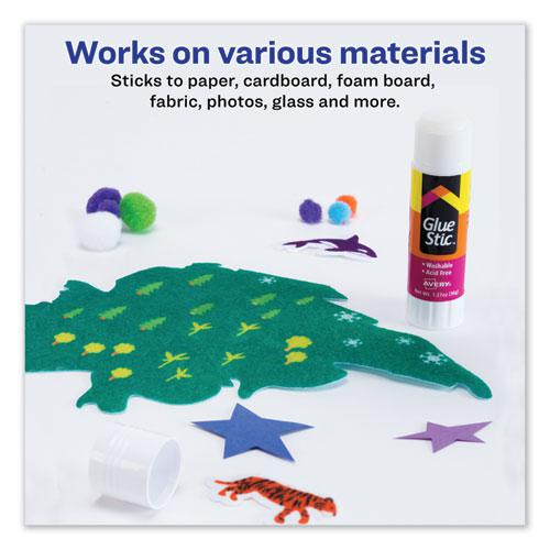 Permanent Glue Stic, 1.27 oz, Applies White, Dries Clear. Picture 3