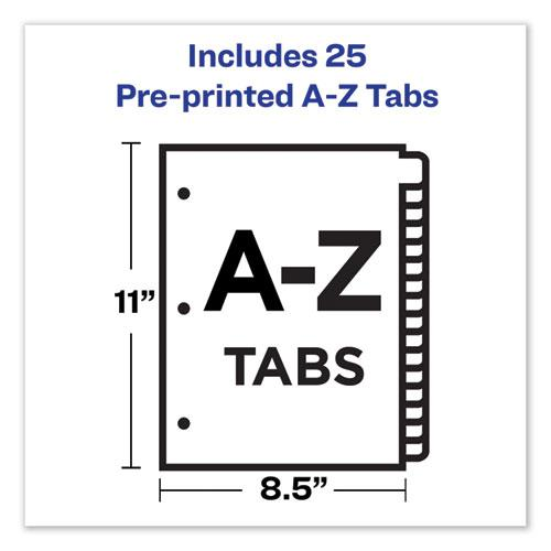 Preprinted Red Leather Tab Dividers w/Clear Reinforced Edge, 25-Tab, Ltr. Picture 5