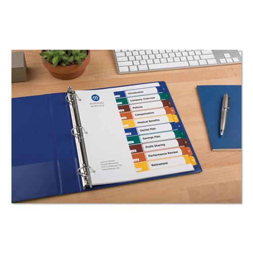 Ready Index Customizable Table of Contents, Asst Dividers, 10-Tab, Ltr, 6 Sets. Picture 2
