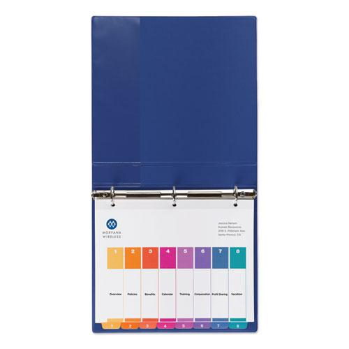 Customizable TOC Ready Index Multicolor Dividers, 8-Tab, Letter, 24 Sets. Picture 8