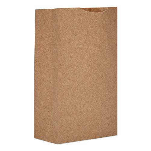 """Grocery Paper Bags, 52 lbs Capacity, #3, 4.75""""w x 2.94""""d x 8.04""""h, Kraft, 500 Bags. Picture 1"""
