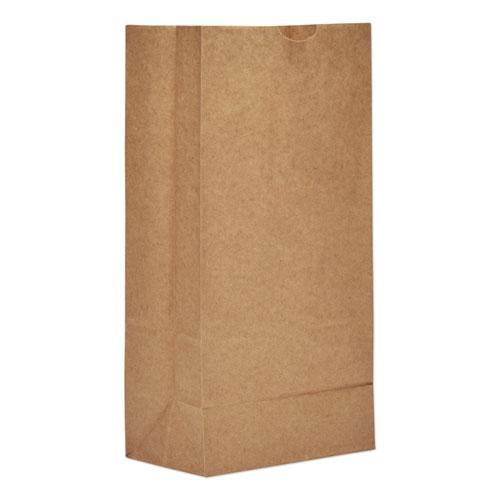 "Grocery Paper Bags, 50 lbs Capacity, #8, 6.13""w x 4.17""d x 12.44""h, Kraft, 1,000 Bags. Picture 1"