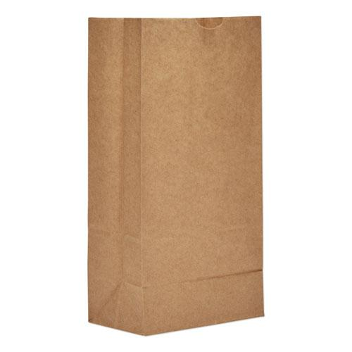 """Grocery Paper Bags, 50 lbs Capacity, #8, 6.13""""w x 4.13""""d x 12.44""""h, Kraft, 500 Bags. Picture 1"""
