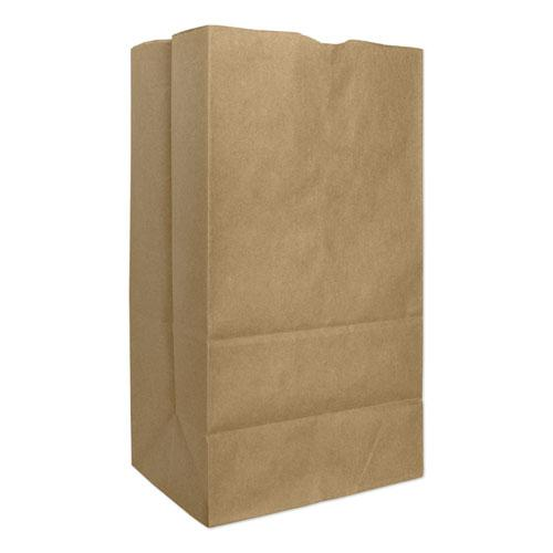 """Grocery Paper Bags, 57 lbs Capacity, #25, 8.25""""w x 6.13""""d x 15.88""""h, Kraft, 500 Bags. Picture 1"""