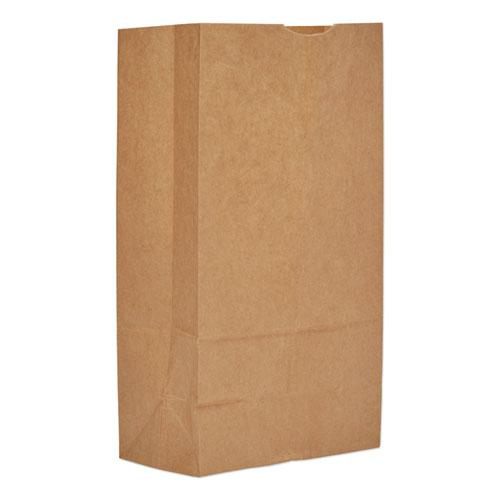 """Grocery Paper Bags, 12#, 7.06""""w x 4.5""""d x 13.75""""h, Kraft, 500 Bags. Picture 1"""