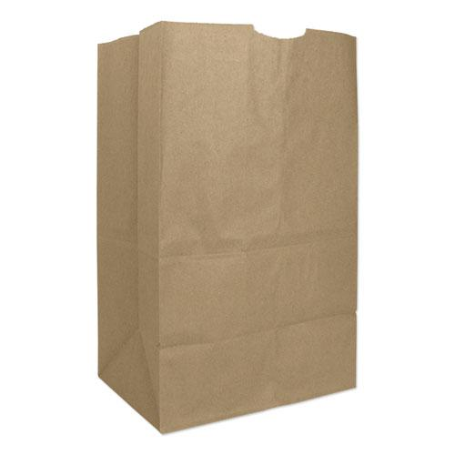"""Grocery Paper Bags, 50 lbs Capacity, #20 Squat, 8.25""""w x 5.94""""d x 13.38""""h, Kraft, 500 Bags. Picture 1"""