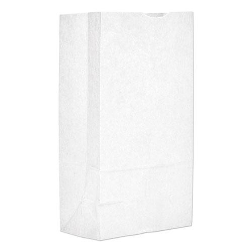 """Grocery Paper Bags, 40 lbs Capacity, #12, 7.06""""w x 4.5""""d x 13.75""""h, White, 500 Bags. Picture 1"""
