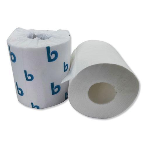 Boardwalk Green Plus Bathroom Tissue, 2-Ply, White, 400 Sheets, 96 Rolls/Carton. Picture 2