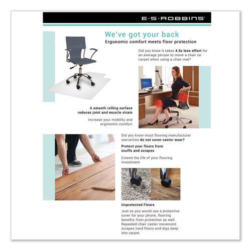 Economy Series Chair Mat for Hard Floors, 45 x 53, Clear. Picture 4