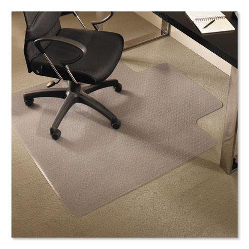 EverLife Chair Mats for Medium Pile Carpet with Lip, 45 x 53, Clear. Picture 1