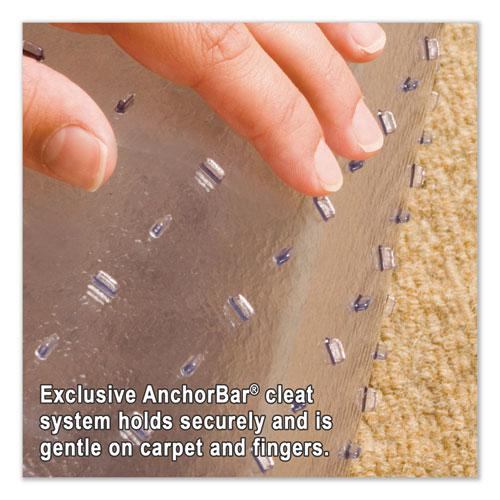 "Multi-Task Series AnchorBar Chair Mat for Carpet up to 0.38"", 45 x 53, Clear. Picture 2"