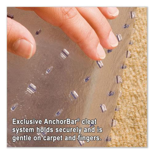 """Performance Series AnchorBar Chair Mat for Carpet up to 1"""", 45 x 53, Clear. Picture 4"""