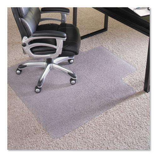 """Performance Series AnchorBar Chair Mat for Carpet up to 1"""", 45 x 53, Clear. Picture 1"""