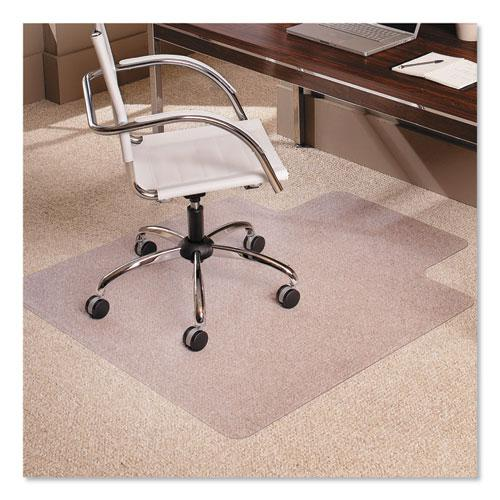 "Multi-Task Series AnchorBar Chair Mat for Carpet up to 0.38"", 45 x 53, Clear. Picture 1"