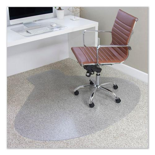 EverLife Chair Mats for Medium Pile Carpet, Contour,  66 x 60, Clear. Picture 1