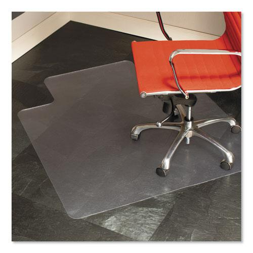 Multi-Task Series Chair Mat for Hard Floors, Heavier Use, 45 x 53, Clear. Picture 1