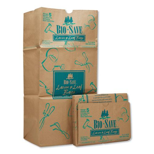"""Lawn and Leaf Bags, 30 gal, 16"""" x 35"""", Kraft, 50 Bags. Picture 1"""