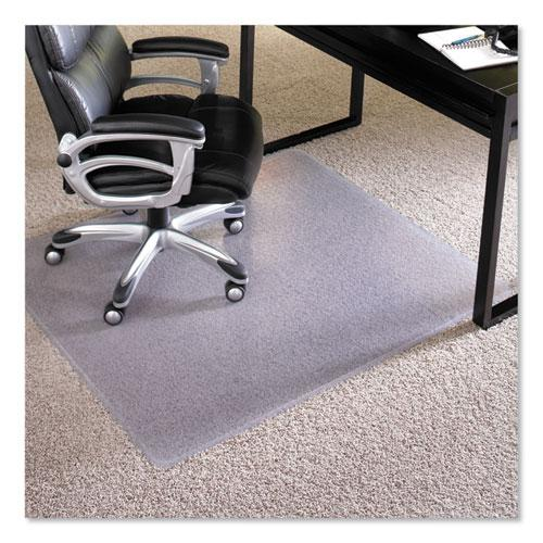 """Performance Series AnchorBar Chair Mat for Carpet up to 1"""", 46 x 60, Clear. Picture 1"""