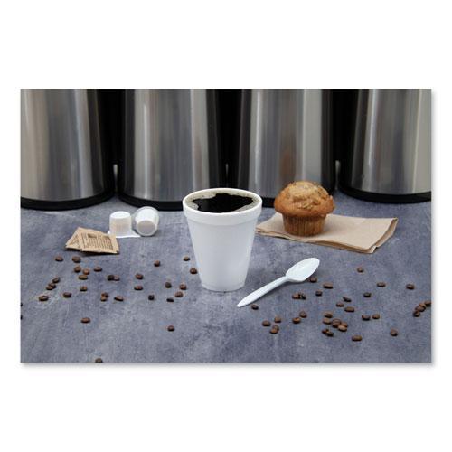 Foam Drink Cups, 12oz, White, 1000/Carton. Picture 3