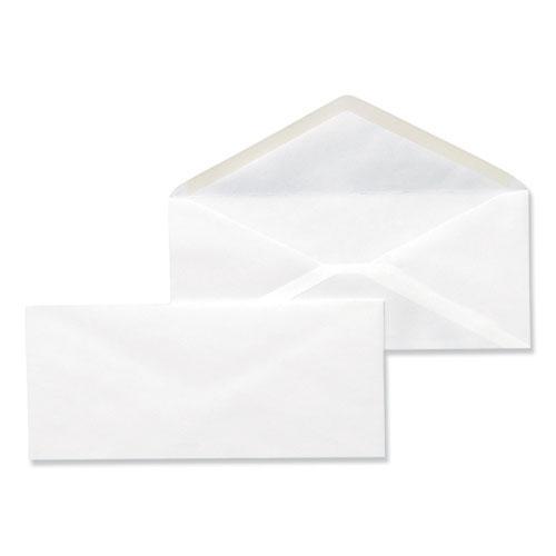 Business Envelope, #10, Monarch Flap, Gummed Closure, 4.13 x 9.5, White, 500/Box. Picture 2