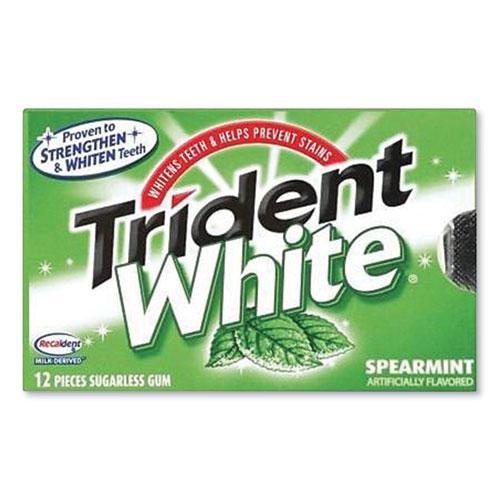 Sugar-Free Gum, White Spearmint, 16 Sticks/Pack, 9 Packs/Box. Picture 1