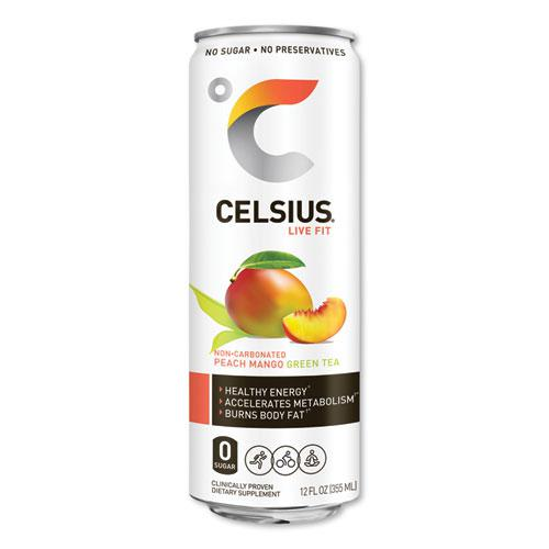Live Fit Fitness Drink, Peach Mango Green Tea, 12 oz Can, 12/Carton. Picture 1