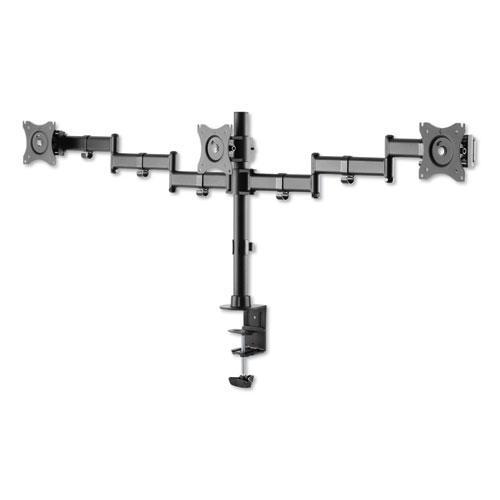 "AdaptivErgo Pole-Mount Triple Arm for 27"" Monitors, 360 deg Rotation, +45/-45 deg Tilt, 45 deg Pan, Black, Supports 17.6 lb. Picture 4"