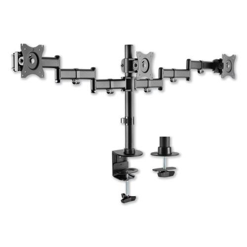 "AdaptivErgo Pole-Mount Triple Arm for 27"" Monitors, 360 deg Rotation, +45/-45 deg Tilt, 45 deg Pan, Black, Supports 17.6 lb. Picture 1"